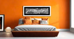 Snow Capped Helvellyn Mountains - Framed Print with Mount on Wall