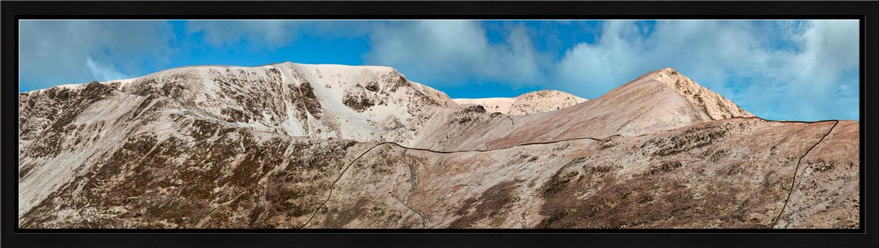 Snow Capped Helvellyn Mountains - Modern Print