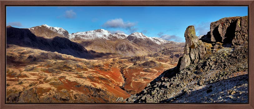 Eskdale Needle Winter Panorama - Modern Print