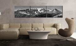 Helvellynn Snow Capped - 3 Panel Canvas on Wall