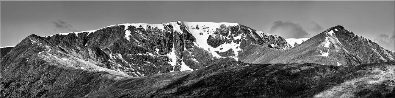 Helvellynn Snow Capped - Black White Canvas Prints