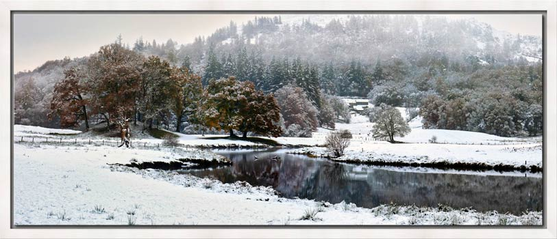 River Brathay Winter Wonderland - Modern Print