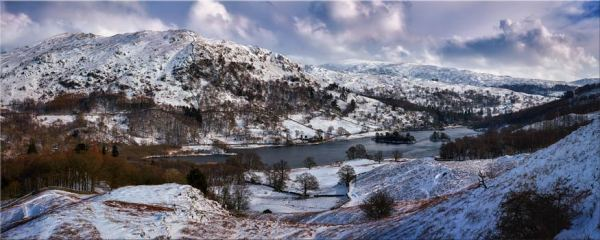 Rydal Water Winter - Canvas Print