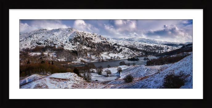 Rydal Water Winter - Framed Print
