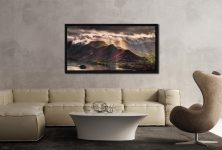 Sunshine and Showers on Cat Bells - Black oak floater frame with acrylic glazing on Wall