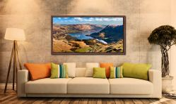 Ullswater From Harrison Crag - Walnut floater frame with acrylic glazing on Wall