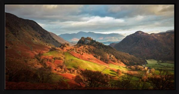 Castle Crag and Kings How - Modern Print