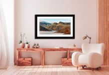 Golden Langdale Pikes - Framed Print with Mount on Wall