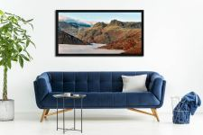 Golden Langdale Pikes - Black oak floater frame with acrylic glazing on Wall