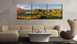 Loweswater Fell Summit - 3 Panel Canvas on Wall