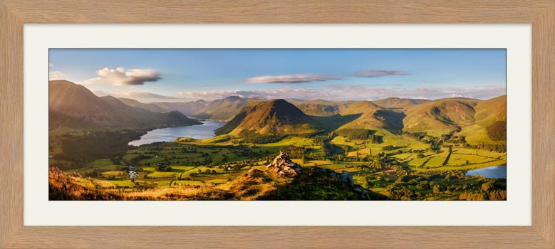 Loweswater Fell Summit - Framed Print with Mount