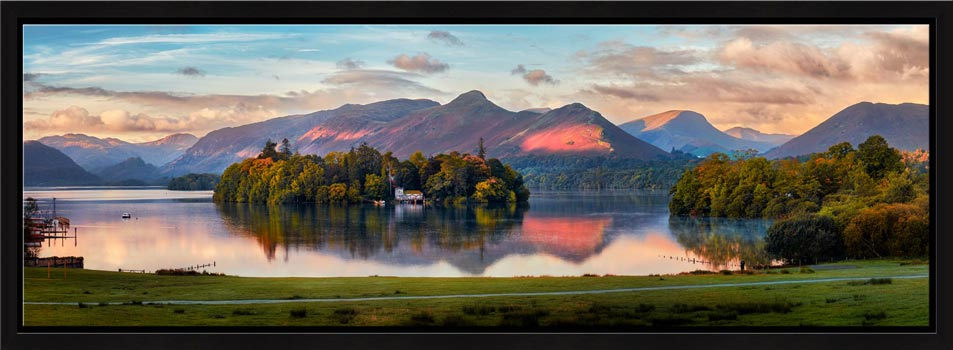 Derwent Water First Light - Modern Print