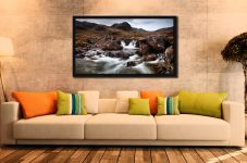 Deepdale Beck to Greenhow End - Black oak floater frame with acrylic glazing on Wall