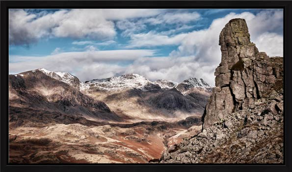 Eskdale Needle in Winter - Modern Print
