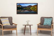 Stillness at Buttermere - Walnut floater frame with acrylic glazing on Wall