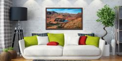 Winter Sun Over Blea Tarn - Walnut floater frame with acrylic glazing on Wall