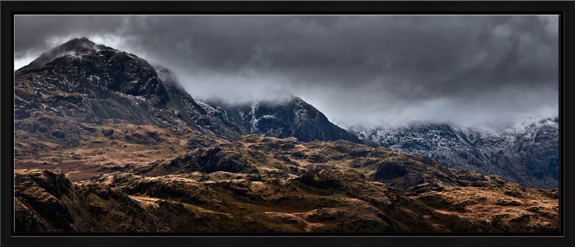 Scafell Mountains from Hardknott - Modern Print