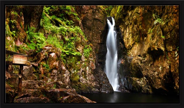 Stanley Ghyll Force Gorge - Modern Print