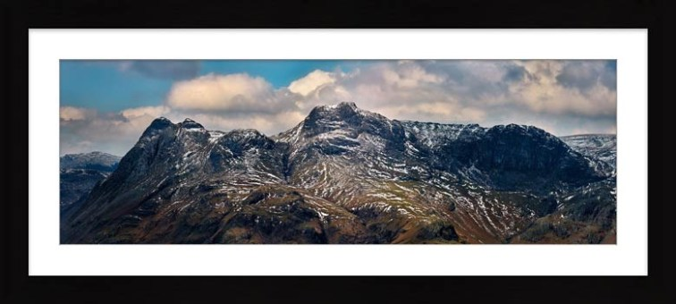 The Langdales and Pavey Ark - Framed Print