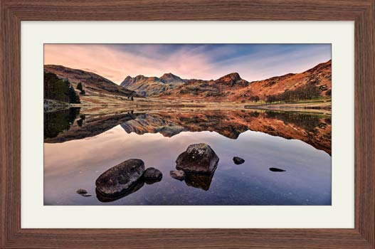 Blea Tarn at Dusk - Framed Print with Mount