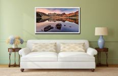 Blea Tarn at Dusk - White Maple floater frame with acrylic glazing on Wall