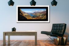 Buttermere Valley Green Crag - Framed Print with Mount on Wall