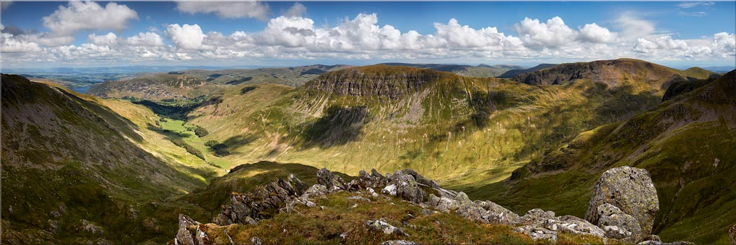 Helvellyn to St Sunday Crag - Canvas Print