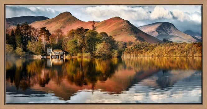 Derwent Boathouse and Cat Bells - Modern Print