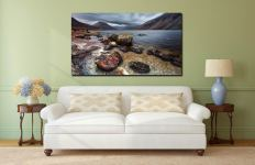Wast Water Middle Earth - Print Aluminium Backing With Acrylic Glazing on Wall