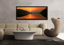 A lovely golden sunrise over Ullswater - Black oak floater frame with acrylic glazing on Wall