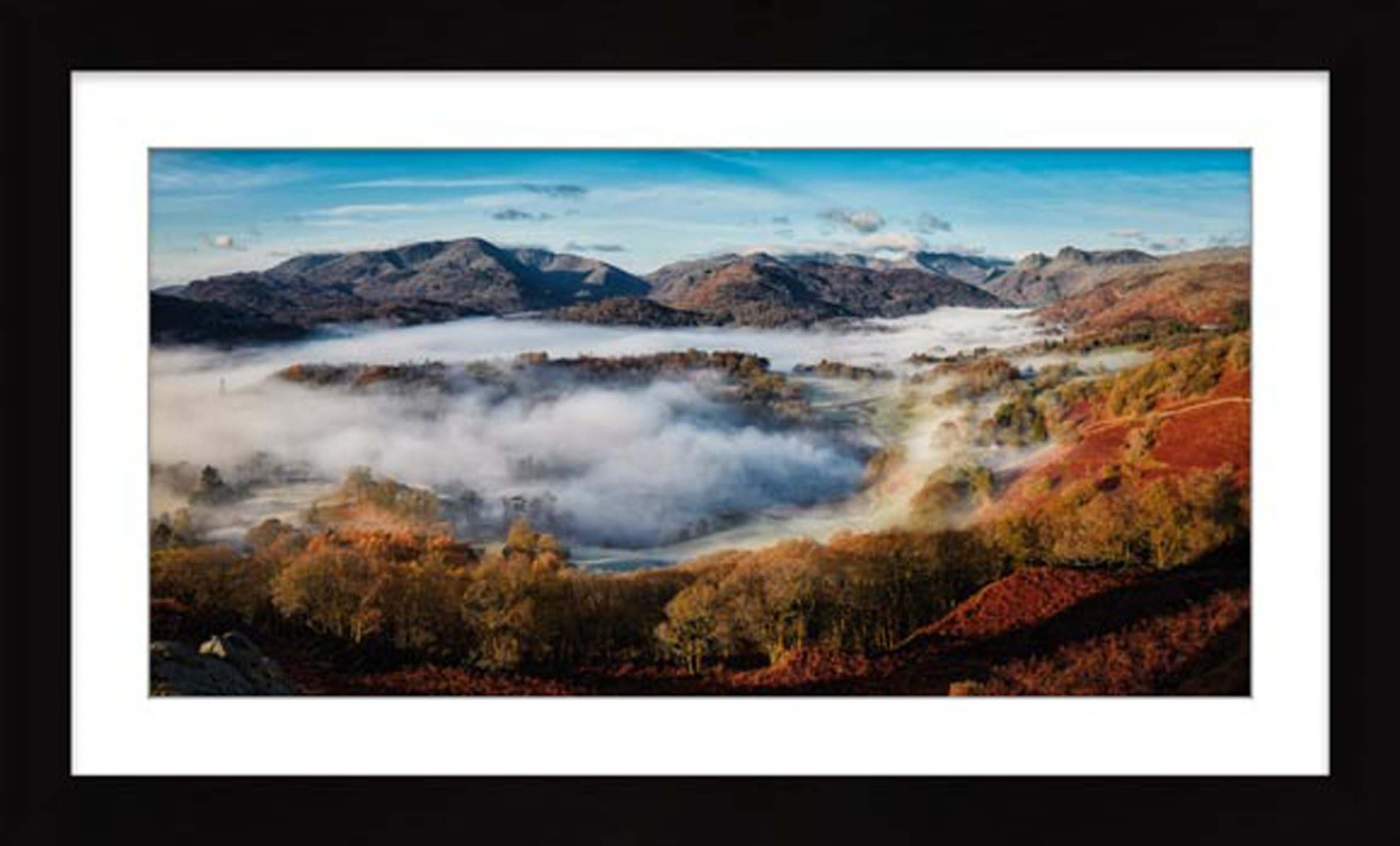 Great Langdale Misty Morning - Framed Print with Mount