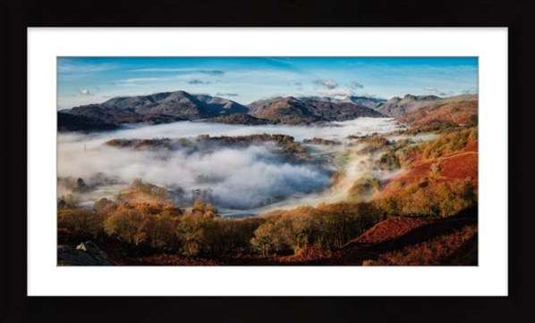 Great Langdale Misty Morning - Framed Print