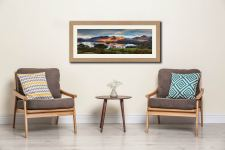 Cat Bells Morning Light - Framed Print with Mount on Wall