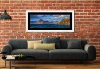 Cuillins From Elgol - Framed Print with Mount on Wall