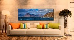 View over Loch Scavaig to the Cuillin mountains from Elgol - Print Aluminium Backing With Acrylic Glazing on Wall