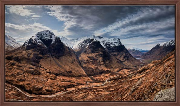 Winter Colours of Three Sisters - Modern Print