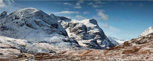 Glencoe in the Snow - Scotland Canvas