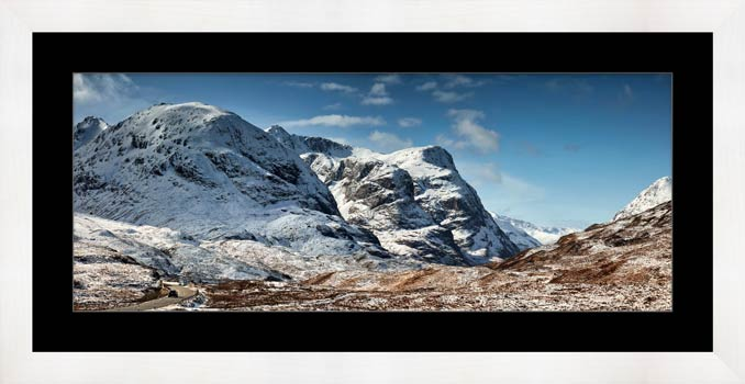 Glencoe in the Snow - Framed Print with Mount