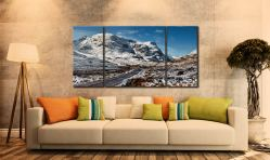 Road Through Glencoe - 3 Panel Wide Centre Canvas on Wall