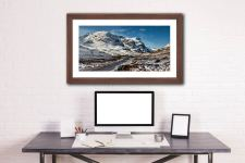 Road Through Glencoe - Framed Print with Mount on Wall