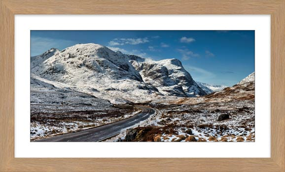 Road Through Glencoe - Framed Print with Mount