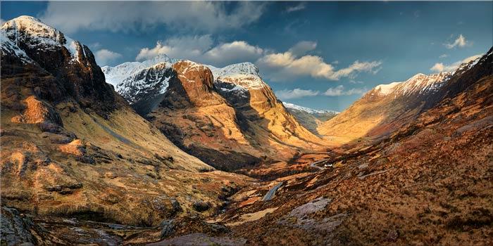 Mountains of Glencoe - Canvas Print