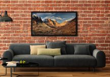 Mountains of Glencoe - Black oak floater frame with acrylic glazing on Wall
