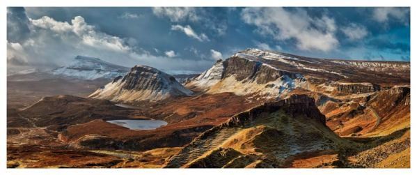 Snow on the Trotternish Mountains - Scotland Print