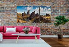 The Leaning Towers of Skye - 3 Panel Canvas on Wall