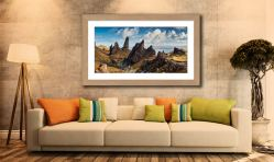 The Leaning Towers of Skye - Framed Print with Mount on Wall
