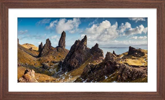 The Leaning Towers of Skye - Framed Print