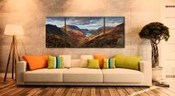 Buttermere Valley and High Crag - 3 Panel Wide Mid Canvas on Wall