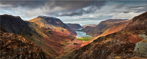 Buttermere Valley and High Crag - Canvas Print