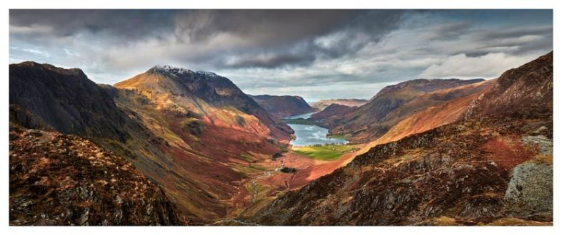 Buttermere Valley and High Crag - Lake District Print